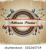 vintage music sign badge. | Shutterstock .eps vector #102263719