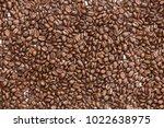 roast coffee bean for texture... | Shutterstock . vector #1022638975
