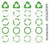 round arrows set. green circle...   Shutterstock .eps vector #1022639395