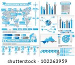 infographic demographics 2 blue | Shutterstock .eps vector #102263959