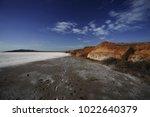 Dry Salt Lake Bottom Full Of...