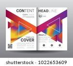 business bi fold brochure... | Shutterstock .eps vector #1022653609