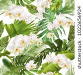 vector botanical seamless... | Shutterstock .eps vector #1022656924