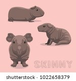 guinea pig skinny cartoon... | Shutterstock .eps vector #1022658379