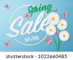 illustration of spring sale... | Shutterstock .eps vector #1022660485