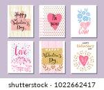 happy valentine's day. set of...   Shutterstock .eps vector #1022662417