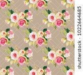 seamless floral pattern with... | Shutterstock .eps vector #1022664685