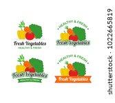 fresh vegetables logo design... | Shutterstock .eps vector #1022665819