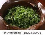 korean herbs side dish   Shutterstock . vector #1022666971