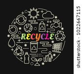 recycle colorful gradient with... | Shutterstock .eps vector #1022667115