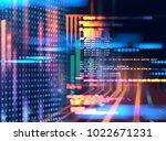 programming code abstract... | Shutterstock . vector #1022671231