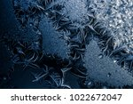 amazing frost texture on window.... | Shutterstock . vector #1022672047
