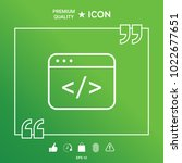 code editor icon | Shutterstock .eps vector #1022677651