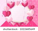 women's day design for greeting ... | Shutterstock .eps vector #1022685649