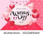 women's day design for greeting ... | Shutterstock .eps vector #1022685664