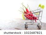 shopping cart  space for text.... | Shutterstock . vector #1022687821