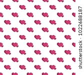 seamless pattern from hearts on ... | Shutterstock .eps vector #1022688187