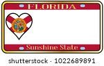 florida state license plate in... | Shutterstock . vector #1022689891
