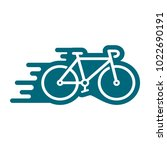 bicycle icon in trendy flat... | Shutterstock .eps vector #1022690191