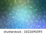 light blue  green vector... | Shutterstock .eps vector #1022690395