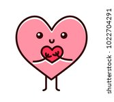 cute cartoon heart character | Shutterstock .eps vector #1022704291