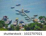 a small boat pier in the coron... | Shutterstock . vector #1022707021