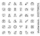 oncology icon set. collection... | Shutterstock .eps vector #1022708251