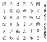 oncology icon set. collection... | Shutterstock .eps vector #1022708287