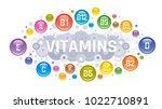 multi vitamin complex icons.... | Shutterstock .eps vector #1022710891