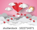 valentine's day concept.love... | Shutterstock .eps vector #1022714371