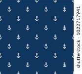 seamless anchor pattern... | Shutterstock .eps vector #1022717941