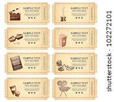 illustration of set of vintage... | Shutterstock .eps vector #102272101