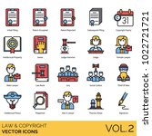 law   copyright icons. initial... | Shutterstock .eps vector #1022721721