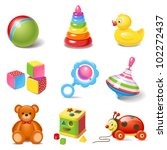 toy icons | Shutterstock .eps vector #102272437