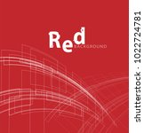 red backdrop with text.... | Shutterstock .eps vector #1022724781