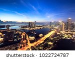 aerial view of singapore... | Shutterstock . vector #1022724787