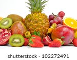 fresh various fruits | Shutterstock . vector #102272491