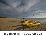 early morning at mike beach in... | Shutterstock . vector #1022725825