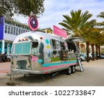 seaside  fl usa january 3rd... | Shutterstock . vector #1022733847