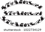 dogs design vector background | Shutterstock .eps vector #1022734129