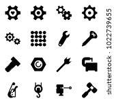 solid vector icon set   heart... | Shutterstock .eps vector #1022739655