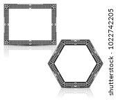 silhouette carved frame for...   Shutterstock .eps vector #1022742205