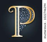 letter logo p. vector. abc.... | Shutterstock .eps vector #1022746294