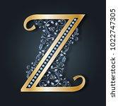 letter logo z. vector. abc.... | Shutterstock .eps vector #1022747305