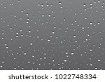 realistic misted glass  rain... | Shutterstock .eps vector #1022748334