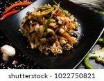 asian cuisine restaurant food... | Shutterstock . vector #1022750821