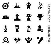 solid vector icon set   target... | Shutterstock .eps vector #1022751619