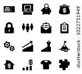 solid vector icon set   ticket...   Shutterstock .eps vector #1022751949