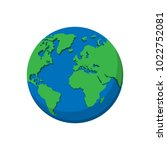 flat planet earth icon.... | Shutterstock .eps vector #1022752081