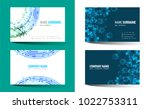 creative double sided business... | Shutterstock .eps vector #1022753311